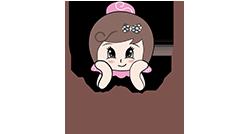 馋嘴公主零食店合作品牌logo